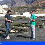 Avanza la II fase de las obras en el campo de fútbol de Pto. de Santiago