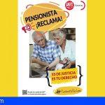 UGT Canarias se suma a la campaña 'Pensionista reclama. Es de justicia, es tu derecho'