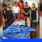 San Miguel dona material para la Agrupación de Voluntarios de Protección Civil