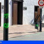 La Gomera | El incivismo en Halloween deja pintadas en el casco de San Sebastián