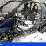 Extinguen varios incendios en vehículos en San Isidro, San Miguel e Icod
