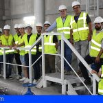 El depósito de agua desalada de Granadilla recibió a estudiantes de la ULL