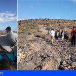 30 granadilleros Visitaron los grabados rupestres de los Llanos de Ifara