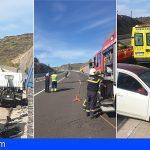 Guía de Isora | Una mujer grave en una colisión frontal entre un coche y un camión la TF-1