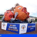 Loro Parque Fundación dice «Bye Bye Plastic» con una nueva escultura reciclada