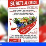 El PSOE de Arona inicia su campaña de recogida de alimentos