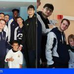 Los niños del HUC recibieron la visita del baloncesto Junior Real Madrid
