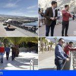 El consejero de Turismo supervisa obras de mejora en varias zonas turísticas del sur