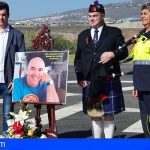 Los Bomberos de Adeje homenajearon al piloto Gustavo Esponera Berkley