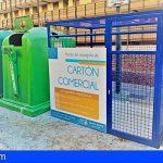 Arona, pionera en Tenerife en instalar jaulas para la recogida de cartón comercial