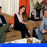 Stgo. del Teide recibió a Mily Reyes, aspirante a Reina del Carnaval de Santa Cruz
