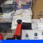 Santa Cruz | Detectado material y falsificaciones textiles por valor de unos 40.000 euros