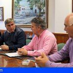 Arona firma el contrato de inicio de obra del encauzamiento del Barranco El Lere