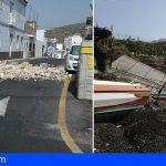200 incidencias en Guía de Isora debido a las fuertes rachas de viento