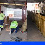 Construyen una nueva zona de juego infantil en el CEIP Tamaimo
