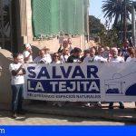 Granadilla | Salvar la Tejita se concentró ante el Servicio Provincial de Costas de Santa Cruz