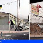 Adeje y Arona los municipios del Sur más afectados por el viento