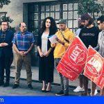 Granadilla | Los trabajadores despedidos por Samur protestan frente al ayuntamiento