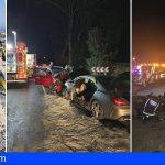 Bomberos de Tenerife intervino en 3 accidentes de tráfico, uno en San Miguel