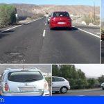 Arona | Conductores demandan el asfaltado de la TF-653 y solución a las largas colas
