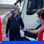 La Gomera realiza controles de temperatura a todos los pasajeros que llegan a puerto y aeropuerto