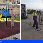 Coronavirus | Stgo. del Teide desinfecta espacios públicos como medida de prevención