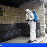 San Miguel procede a la desinfección de las zonas más vulnerables y expuestas al tránsito