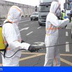 La Gomera activa un sistema de desinfección de los vehículos que llegan por barco