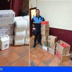 La Policía Local de Santa Cruz recibe 27.180 guantes, 1.250 mascarillas y 900 batas
