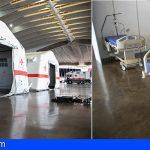Tenerife   Cruz Roja y Cabildo ultiman el montaje del hospital de campaña en el Recinto Ferial