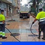 Arona refuerza la limpieza y desinfección de espacios públicos con 20 vehículos y 15 trabajadores