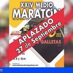 Arona aplaza el Medio Maratón de Las Galletas hasta el 27 de septiembre