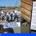 Unas 200 personas se manifestaron en las inmediaciones de las obras del hotel de La Tejita
