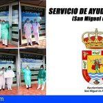 El personal del SAD de San Miguel une su profesionalidad al abanico de los valores