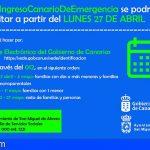 San Miguel | A partir del lunes 27 de abril se podrá solicitar el Ingreso Canario de Emergencia
