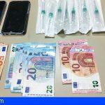 Detenido en La Laguna con 78 cápsulas de clembuterol y viagra, dos teléfonos móviles y 320 euros