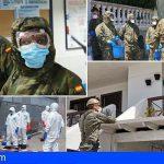 El Ejército de Tierra en Canarias continúan los trabajos contra el COVID 19 dentro de la Operación Balmis