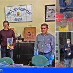 Arona ha distribuido 1.200 viseras protectoras a municipios del Sur y fuerzas de seguridad