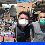 Farray Motor San Isidro dona alimentos a Cáritas y Cruz Roja para los más necesitados