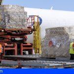 Canarias recibe por 3er día consecutivo esta semana un nuevo cargamento con material sanitario