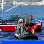 Sorprendida en las costas de La Gomera una embarcación faenando con artes ilegales