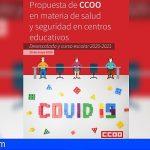 CCOO Canarias: «Es necesario YA un plan concreto de desescalada educativa»