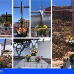 Así amanecieron las Cruces de San Miguel de Abona