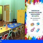 Guía de Isora abre el plazo de matriculación en las Escuelas Infantiles, del 25 de mayo al 25 de junio