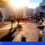 Tenerife | Cinco afectados en un incendio en un taller mecánico en Santa Úrsula