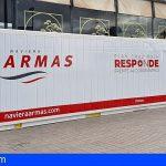 Naviera Armas pone a disposición de Cruz Roja un contenedor para almacenar alimentos