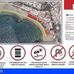 Arona abre sus playas para baño y como solárium, con control de aforo y áreas por número de usuarios