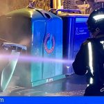 Bomberos de Tenerife atendió varios incendios en contenedores de basura este fin de semana
