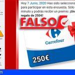 ODIC: «No, Carrefour no está sorteando tarjetas regalo de 250€. Es una Estafa»