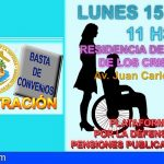 Arona | La Plataforma por la Defensa de las Pensiones Públicas se concentrará mañana en Los Cristianos